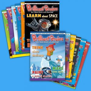 12 Pack Brilliant Brainz Children's Magazine Gift