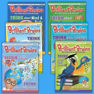 Brilliant Brainz Kid's Magazine Subscription 6 Pack 7-12 Brilliant Brainz Children's Magazine Gift