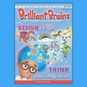 Think About Imagination Children's Magazine Brilliant Brainz