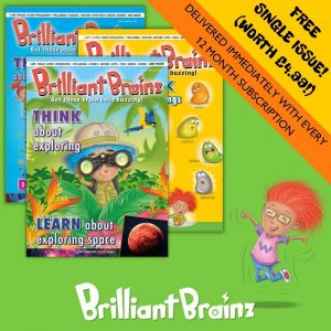 FREE ISSUE Brilliant Brainz Kid's Magazine Subscription